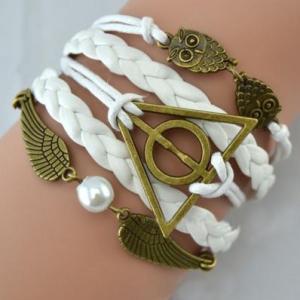 Bracelet Tressé Blanc Collection Hibou
