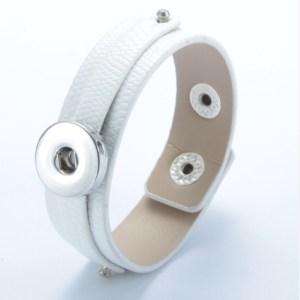 Bracelet cuir et bague - blanc