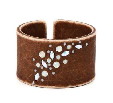 Bracelet manchette marron