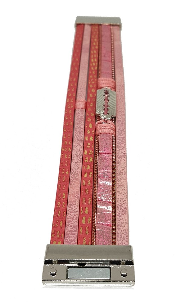 Bracelet rose motifs dorés bracelet