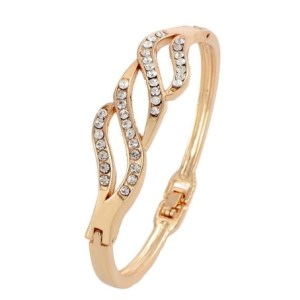 Bracelet torsades doré