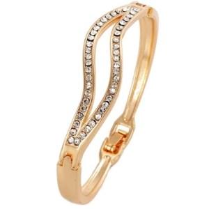 Bracelet vagues doré