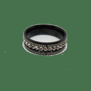 anneau titane noir