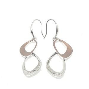 Boucles d'oreilles couleur rose nude