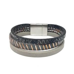 Bracelet python gris