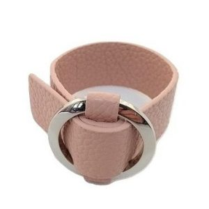 Bracelet simili cuir boucle en métal Couleur rose