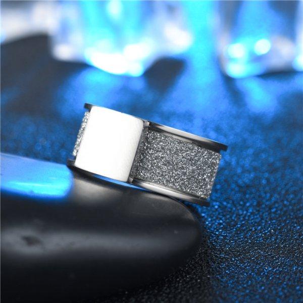 Anneau brillant acier carré (2)