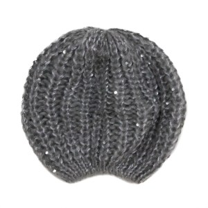 Bonnet sequins gris