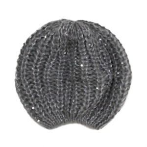 Bonnet sequins gris