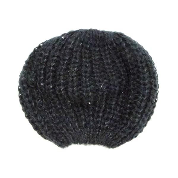 Bonnet sequins noir