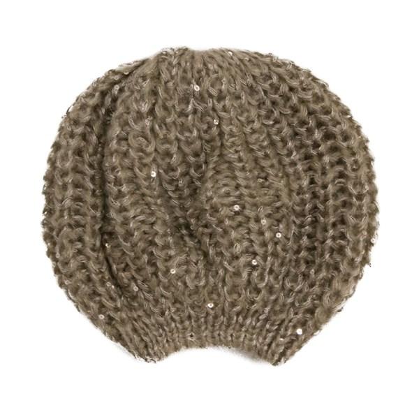Bonnet sequins taupe