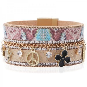 Manchette charms peace taupe