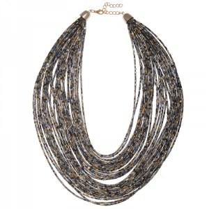 Collier perles grises