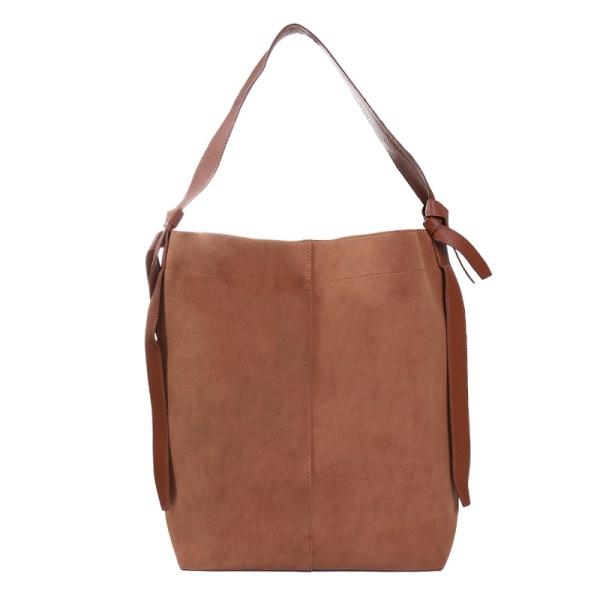 sac shopping marron