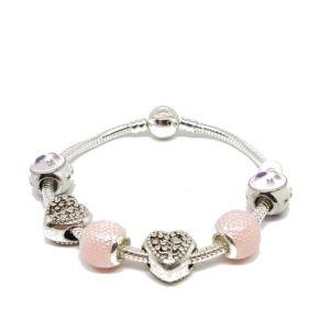 Bracelet charms corail