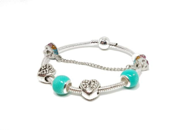Bracelet charms turquoise zoom