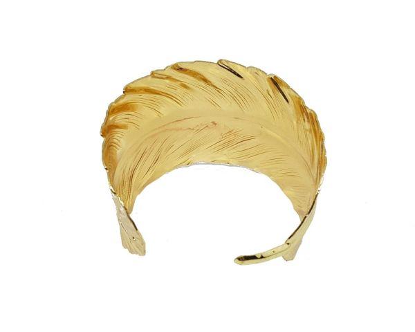 Manchette de bras feuille dorée2