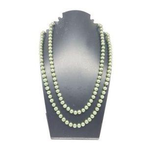 Sautoir perles kaki