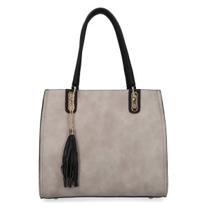 grand sac à main gris