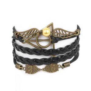Bracelet Harry Potter tressé noir