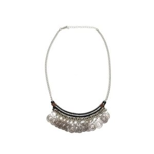 collier sequins noir