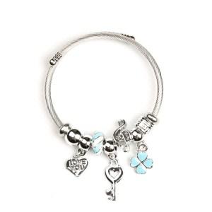 Bracelet bleu clés