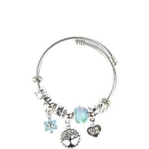Bracelet bleu arbre de vie