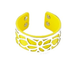 Manchette jaune fleur