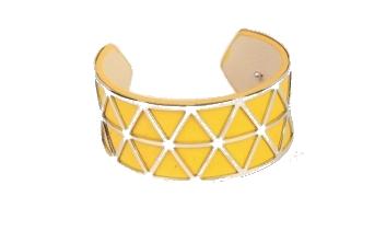 Manchette jaune triangles