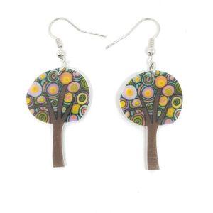 boucles d'oreilles arbre