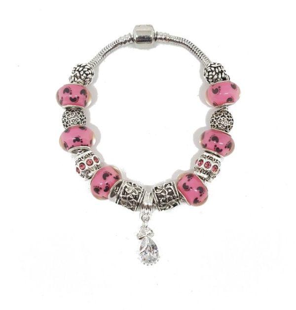 bracelet murano rose