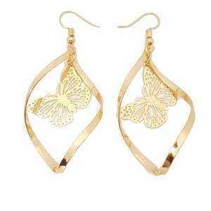 Boucles d'oreilles papillon or