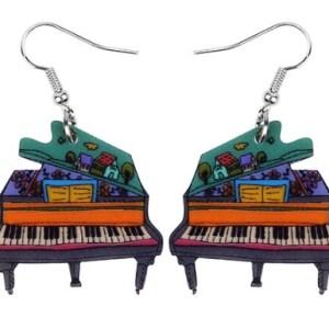 Boucles d'oreilles piano