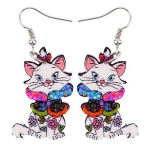 Boucles d'oreilles chat snood