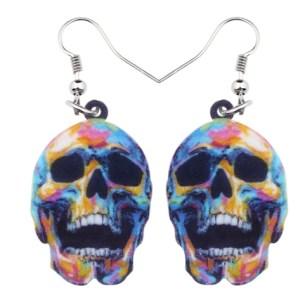 Boucles d'oreilles crâne squelette