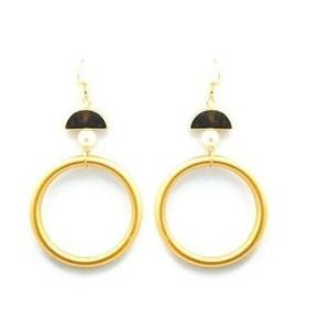 Boucles d'oreilles anneau doré