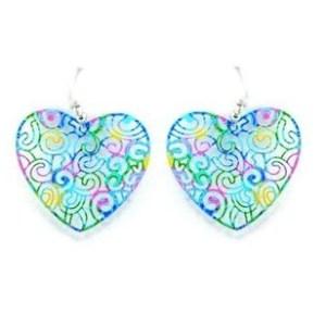 Boucles d'oreilles coeur coloré