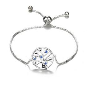 Bracelet arbre de vie petits coeurs