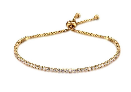 Bracelet doré serti de strass