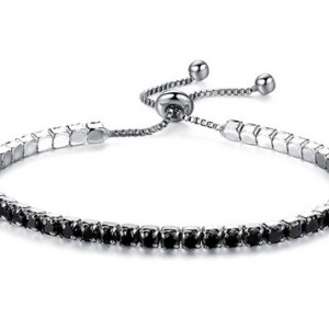 Bracelet strass noirs