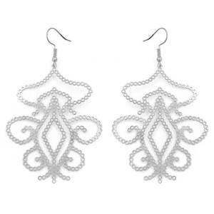Boucles d'oreilles arabesque argenté