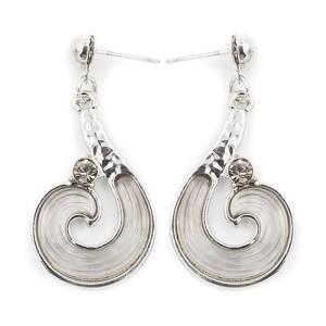 Boucles d'oreilles spirale gris
