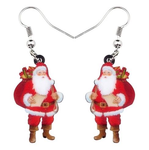 Boucles d'oreilles Père Noël