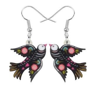 Boucles d'oreilles halloween oiseau