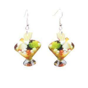 Boucles d'oreilles coupe de fruits