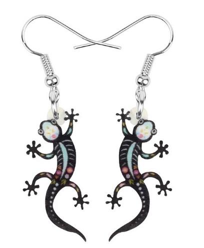Boucles d'oreilles gecko