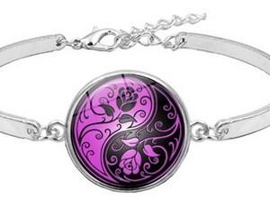 Bracelet Yin Yang violet