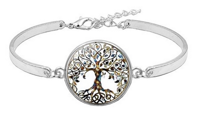 Bracelet médaillon arbre de vie