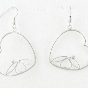 Créoles en forme de coeur
