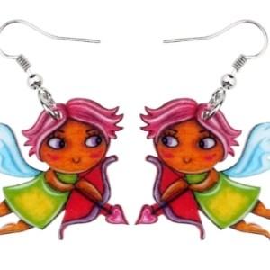 Boucles d'oreilles ange cupidon